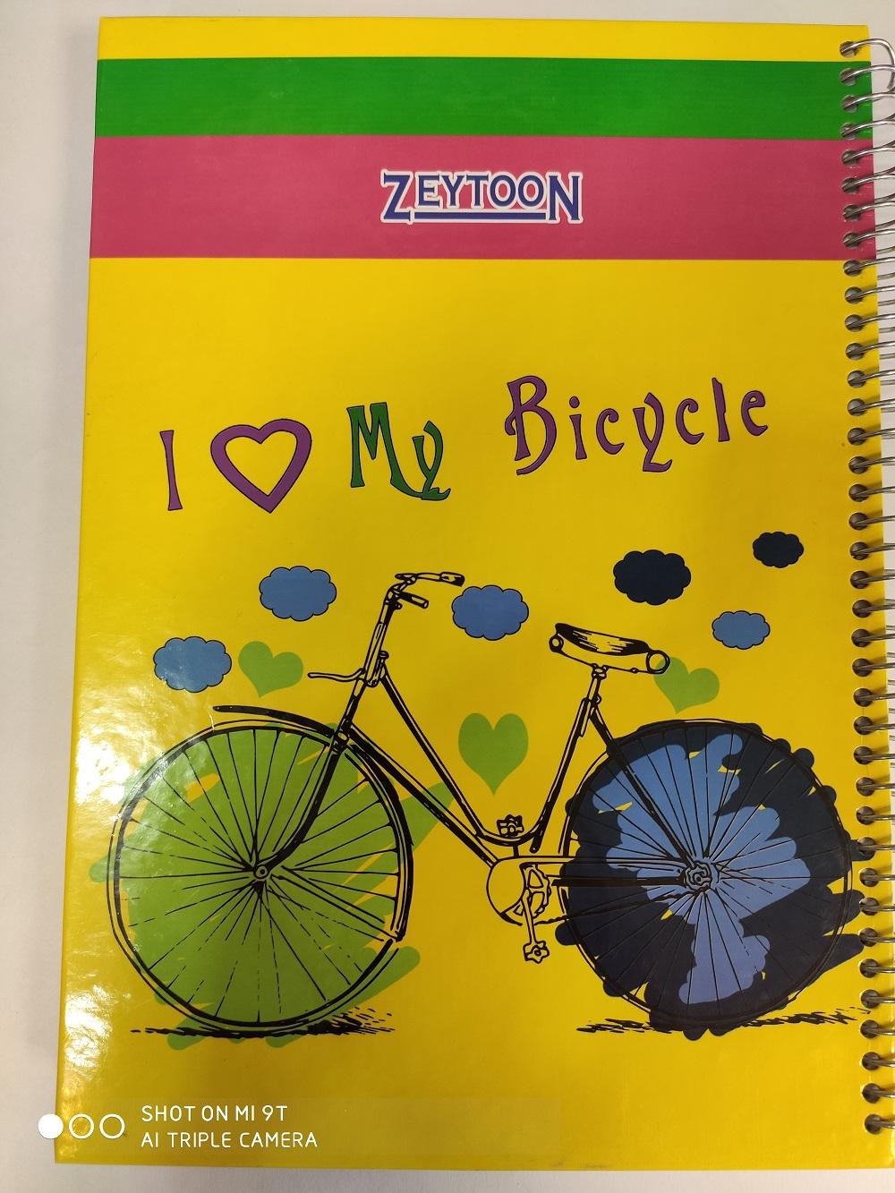 دفتر 100 برگ طرح دوچرخه