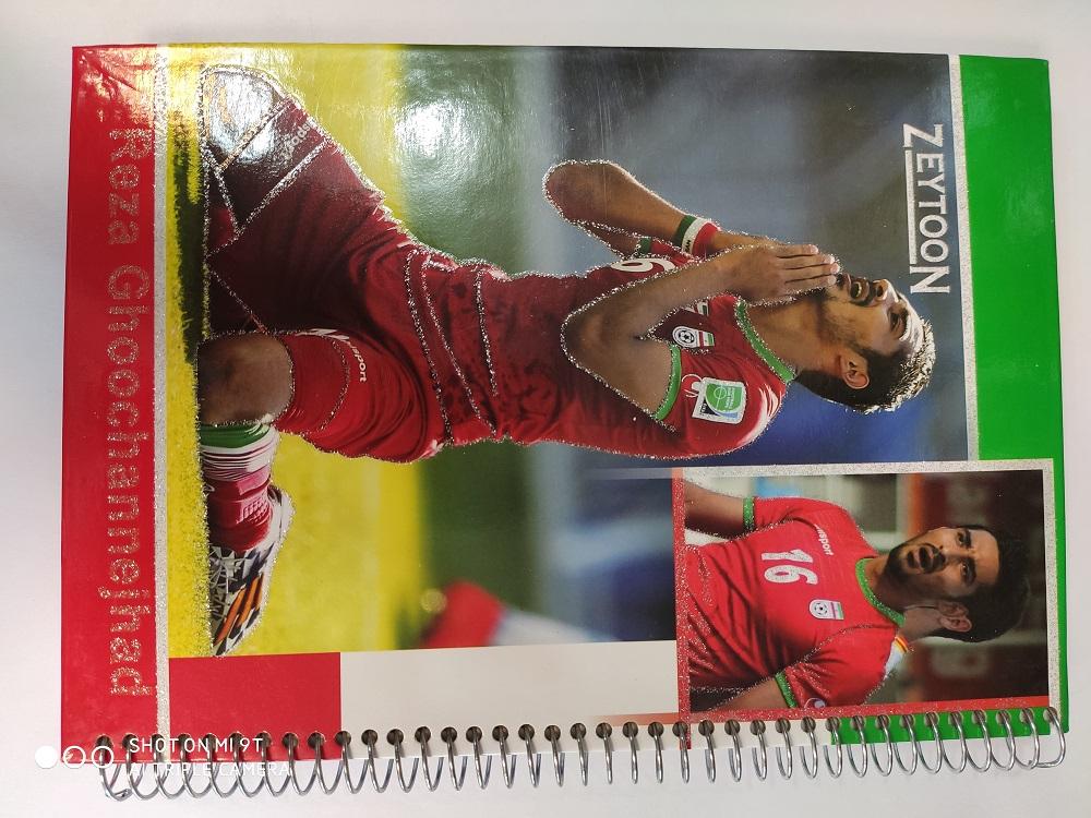 دفتر 100 برگ طرح فوتبالی